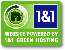 Powered by 1&1 Green Hosting